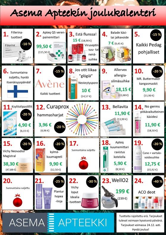 Kosmetiikka Joulukalenteri 2021